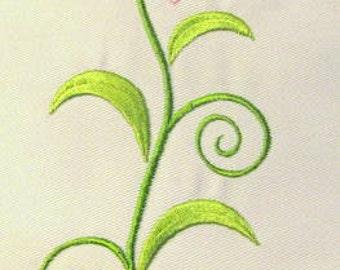 Vintage Flower 05 Machine Applique Embroidery Design - 5x7 & 6x8