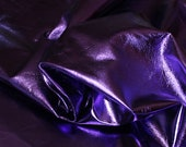 ITALIAN lambskin leather skin skins hide METALLIC PURPLE 6sqf
