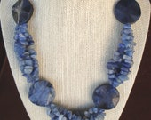 Blue Sodalite and Aventurine Necklace