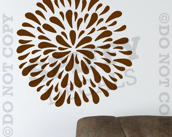 FLOWER BLOSSOM Removable Vinyl Wall Decal Spiffy Decals