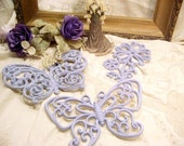 Vintage Upycled Butterflies Shabby Chic YOU PICK COLOR Nursery Girls Room Homco Syroco