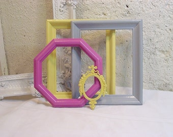 Instant Frame Collection Modern Bright Colors Upcycled Painted Frames