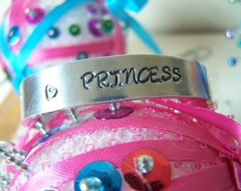 Toddler Gift Hand Stamped Princess Bracelet Toddler Size, Baby Bracelet, Hypoallergenic baby Bracelet, Hand Stamped Baby Girl Gift
