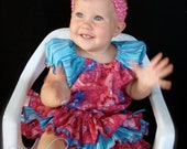 Beautiful Parley Ray Care Bears All Around Ruffle Skirt Peasant Style Blouse and Bracelet Girl Ruffled Bloomers/ Diaper Cover