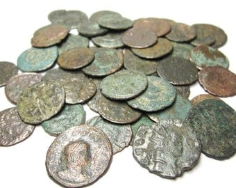 True Roman Empire Era Bronze Coins 1000 Years Old Ancient Treasures. Only 1 coin