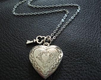 Key to my Heart Locket Necklace