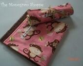 Burp Cloths - Set of 2 - Monkey Burpies