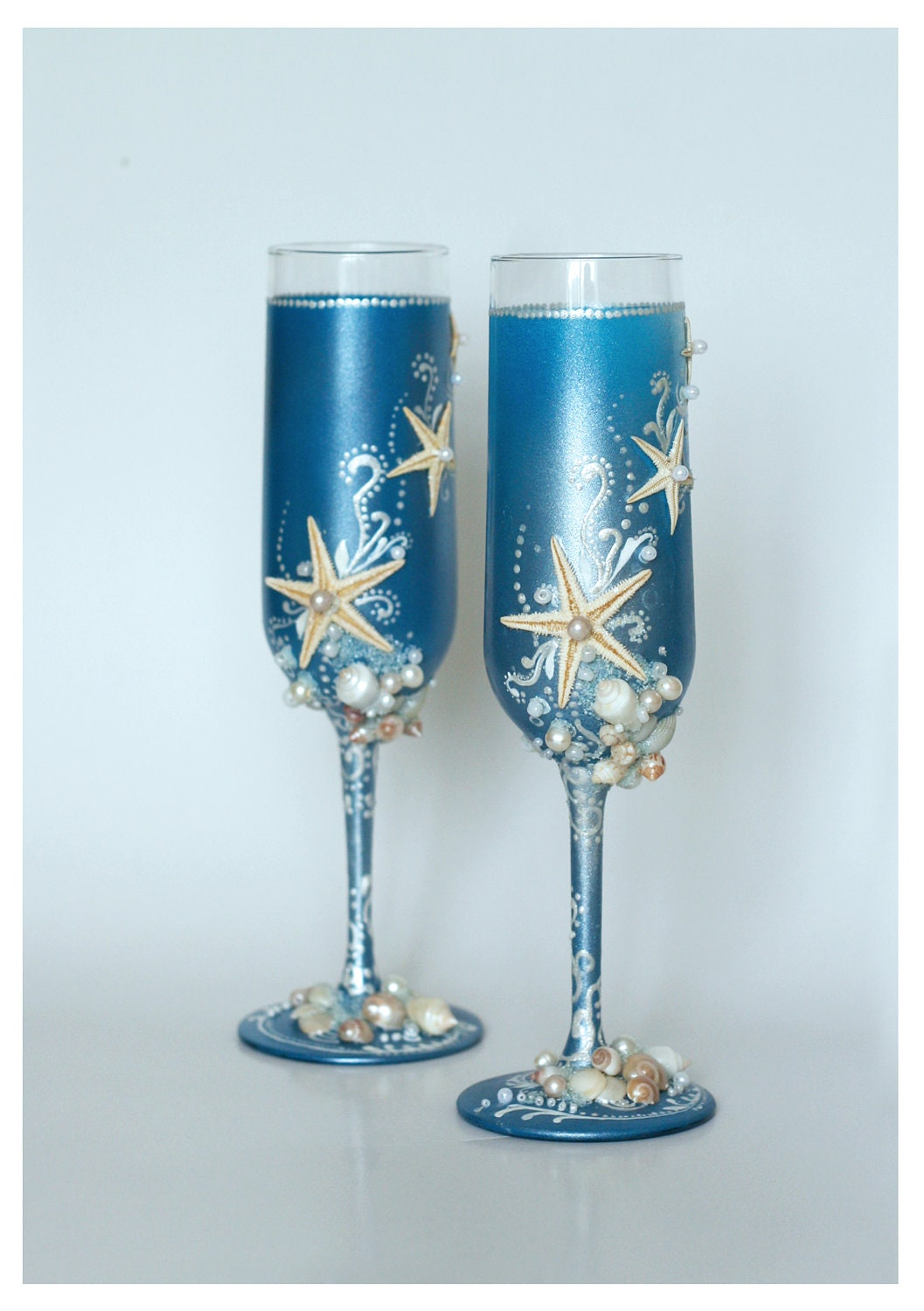 Unavailable listing on etsy for Wedding champagne flutes