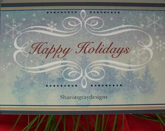 HOLIDAY Gift Card, CHRISTMAS Gift Card, under 2.00