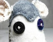 Neutrals and Blues Creature Plush - felted wool