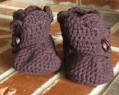 Shell Ankle Booties, 0-6 month or 6-12 month sizing