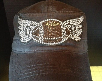 Bling Football with Wings Embellished Hat - Holiday Deals