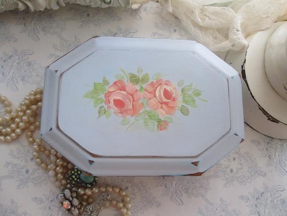 Custom Listing for Meg - Hand Painted Jewelry Box