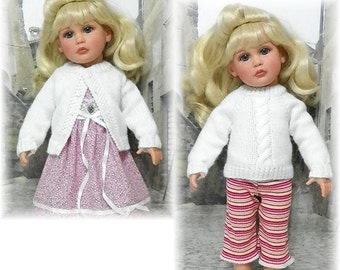 "Knitted Sweater PATTERN for 18"" Katie Effanbee Dolls Sent PDF Format"