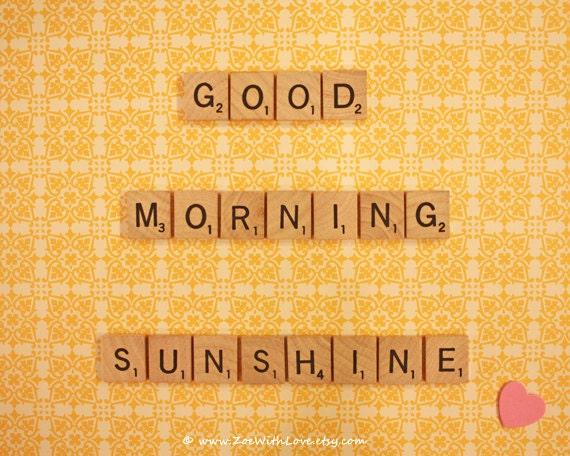 Good Morning Sunshine Quotes: Items Similar To Yellow Wall Art