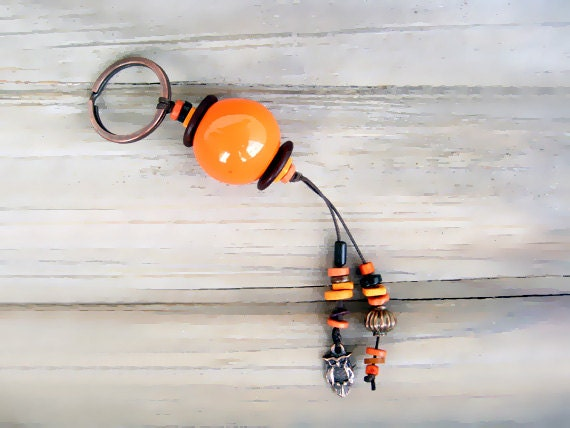 Ceramic beads Keychain Or Purse Accessory