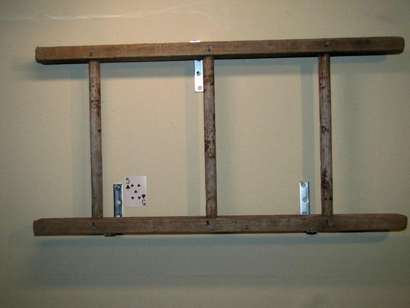 rustic antique wooden bookshelf ladder. Black Bedroom Furniture Sets. Home Design Ideas