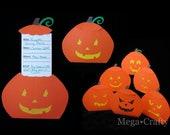 DIY Halloween Jack-o-lantern Invitation Pattern and Tutorial