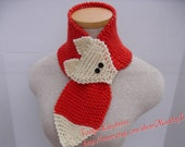 Made to Order The Fox Scarf, Hand Knit Fox Scarf, Children Fox Scarf, Adult Fox Scarf, Christmas Gift