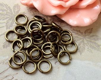 8 mm  Antique Bronze (Medium) Jump Rings (.mmns)