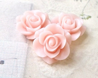 21 mm Rose Resin Flower Cabochons of Different Colors (.am)
