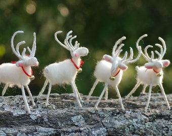 Handmade Felt Reindeer, Featured In Better Homes & Gardens, Holiday Decoration, Christmas Decor
