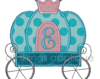 Carriage Applique Design - INSTANT DOWNLOAD