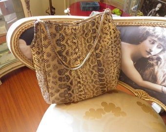 Judith Leiber Snake Purse, Joseph Handbag, Very Large Size