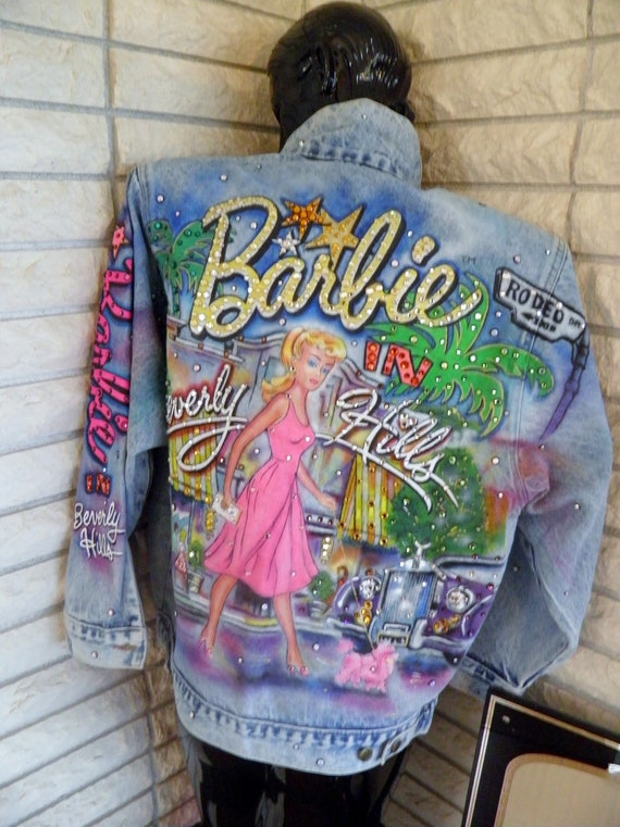 Tony Alamo Rhinestone Denim Jean Jacket Barbie In Beverly