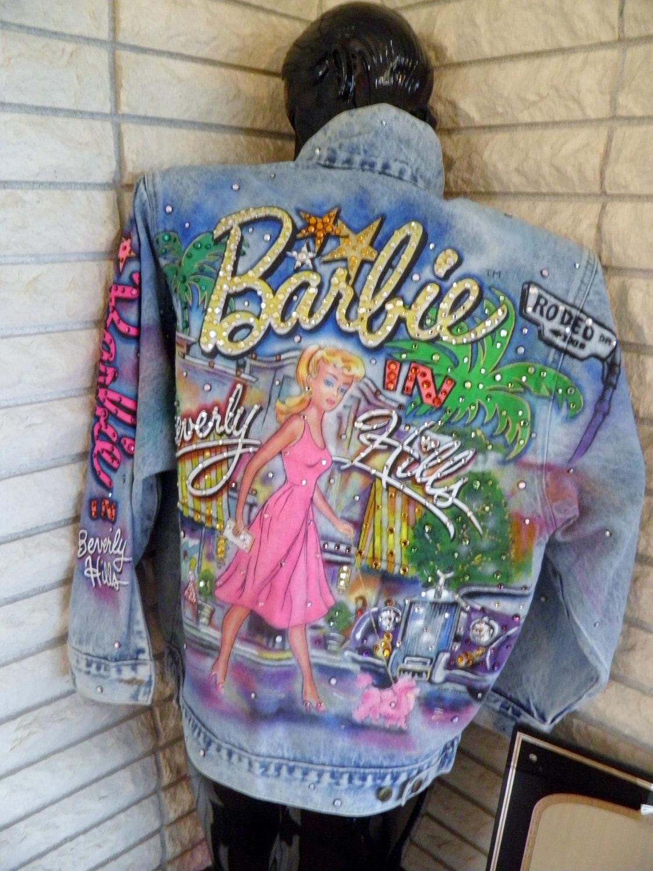 Tony Alamo Rhinestone Denim Jean Jacket Barbie In Beverly