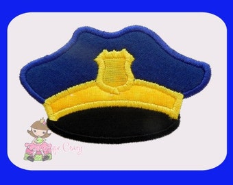 Police hat Applique design