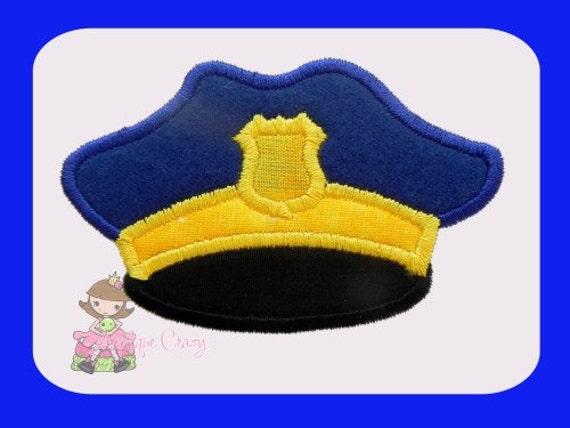 Police hat Applique design