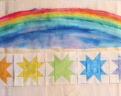 Rainbow Fabric painting and Rainbow Stars Quilt Project