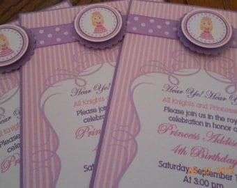 Princess Birthday Party Set-Princess Party Set-Princess Invitations-Princess Favor Tags-Princess Cupcake Toppers-Princess Napkin Rings