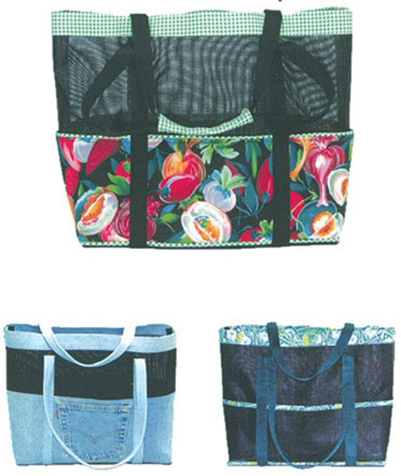 Beach Bag Tote Bag Pattern Diaper Bag Pattern ReUseable