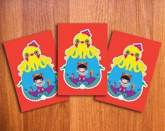 Xiao Yu Under the Sea Postcard set