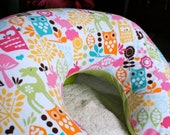 Boppy Pillow Cover: Forest Friends (Watermelon)