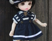 Naiko-handmade-4pieces- Sailor clothes .for bjd FL pukifee lati yellow