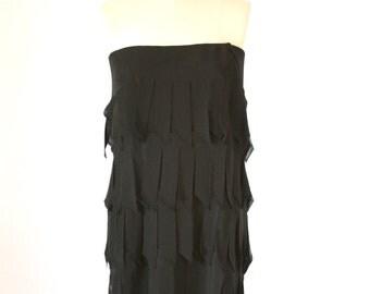 Tadashi Flapper Fringe Skirt - Size Large - Dress Size Small