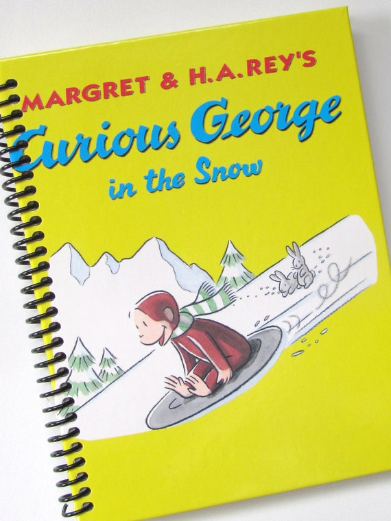 LINED paper CURIOUS GEORGE Journal Notebook Scrapbook In The Snow