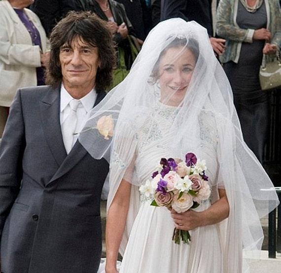 Silk tulle veil, bridal or wedding veil - Alicia