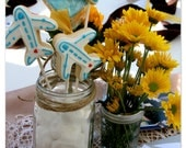 Simple Airplane and cloudy heart cookies for bridal party, wedding, birthday theme//1 dozen