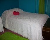 Vintage Minuet Chenille Full sized Bedspread