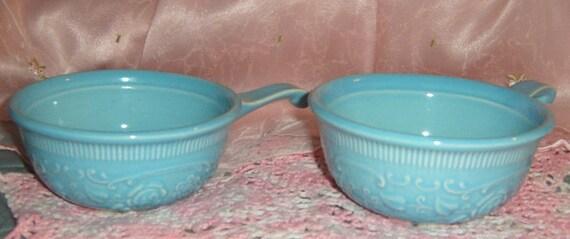 20% OFF Sale   Vintage Aqua Bowls, Oven Proof, Taylor Smith Taylor,  TST ,  Turquoise Bowls, Kitchen, Serving