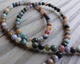 Fancy Jasper Beads - 4mm round - full strand