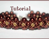 Pearls and seed beads Beading Pattern PDF bracelet or necklace beading pattern tutorial technique