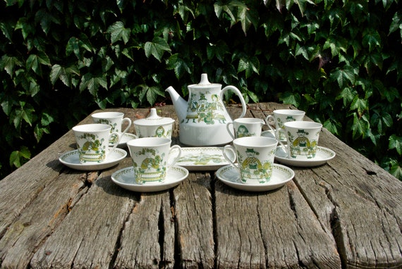 "RESERVED FOR KERRY ""Turi Design ""Market"" coffee or tea set by Figgjo Flint, Norway"""