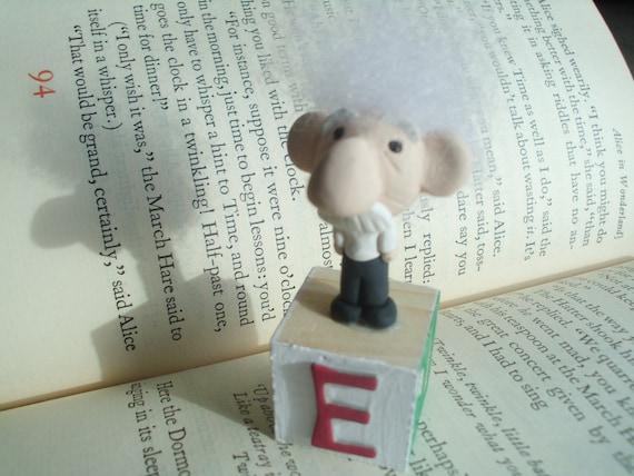 RESERVED Ooak Albert Einstein Polymer Clay Doll