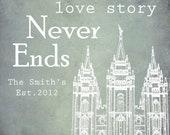 16x20 Love Story Temple - Printable Art
