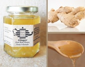 Organic Ginger, New Flavor, Pure Raw Honey  with Organic Ginger. Warm soothing tea. Instant herbal tea.